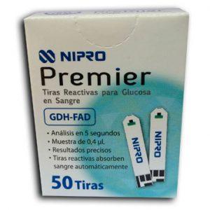 Tiras Reactivas para Glucosa en Sangre Nipro Premier
