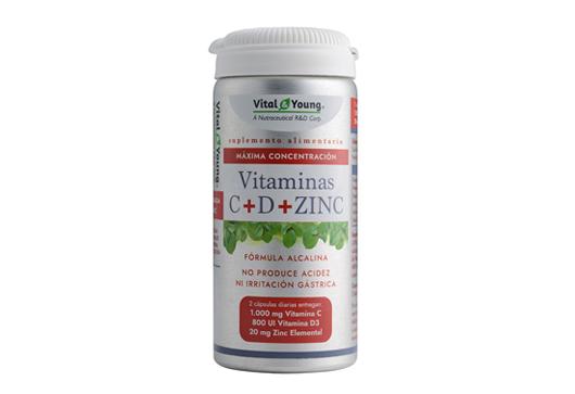 Frasco Vitamina C+D+Zinc