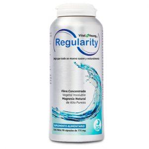 Regularity, regula la función intestinal, recomendado para el estreñimiento crónico o temporal.